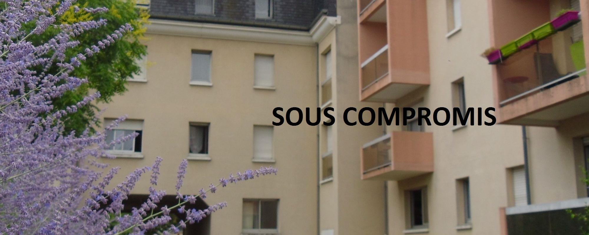 TOURS – Type 2 avec balcon, cave, parking sous-sol et parking privé
